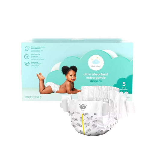 Cloud Island Club Pack Diapers Size 5 69ct - Best By