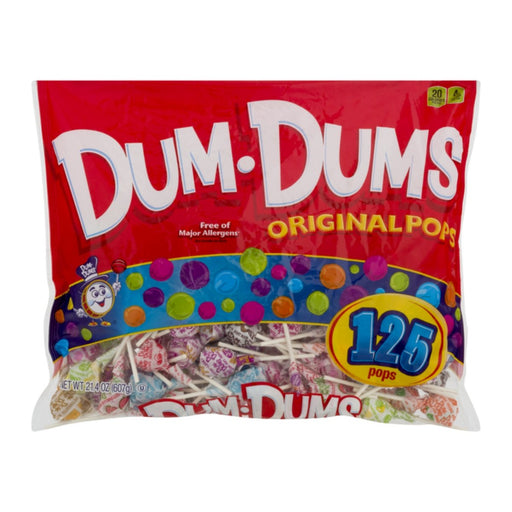 Dum Dums Original Pops 125ct 21.4oz - Best By