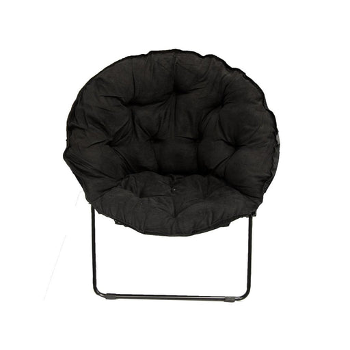 Easy Living - Black Round Paded Dish Chair - Best By