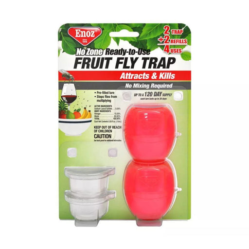 Enoz No Zone Ready to Use Fruit Fly Trap 2ct - Best By