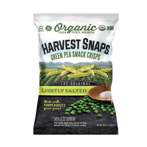 Harvest Snaps Organic Green Pea Snack Crisps Lightly Salted 20oz - Best By