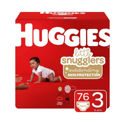 Huggies Little Snugglers Diapers Size 3 76ct - Best By
