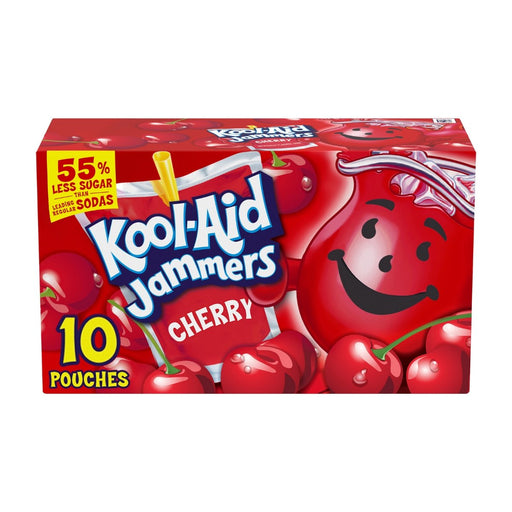 Kool Aid Jammers Cherry Artificially Flavored Drink 10ct 60oz - Best By