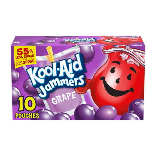 Kool Aid Jammers Grape Artificially Flavored Drink 10ct 60oz - Best By