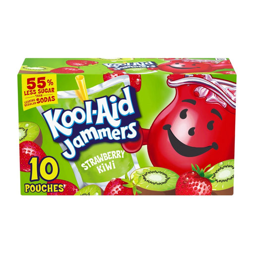 Kool Aid Jammers Strawberry Kiwi Artificially Flavored Drink 10ct 60oz - Best By