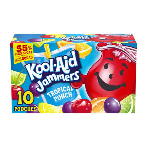 Kool Aid Jammers Tropical Punch Artificially Flavored Drink 10ct 60oz - Best By