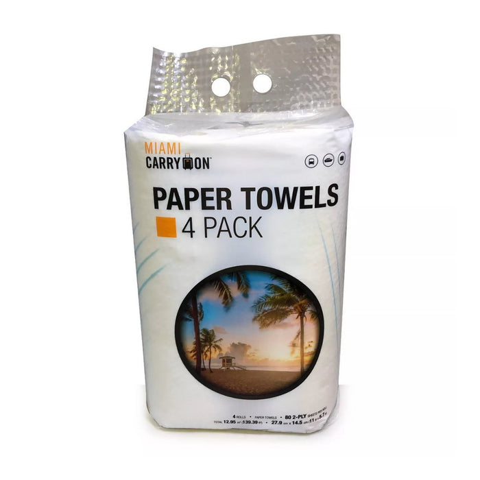 Miami CarryOn Paper Towels 4pk - Best By