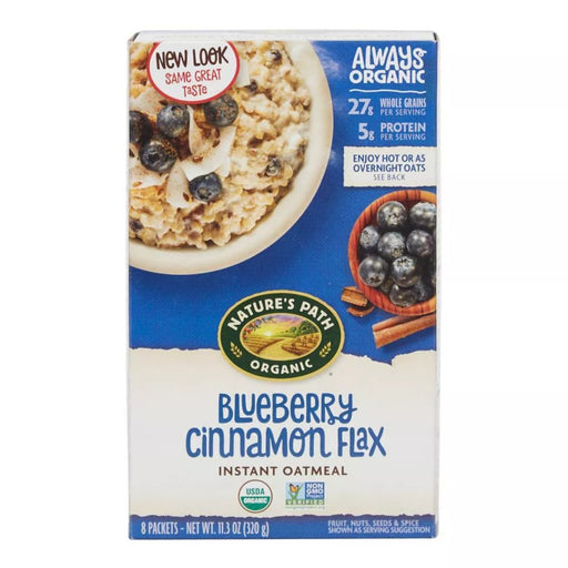 Nature's Path Organic Blueberry Cinnamon Flax Instant Oatmeal 11.3oz 8ct - Best By