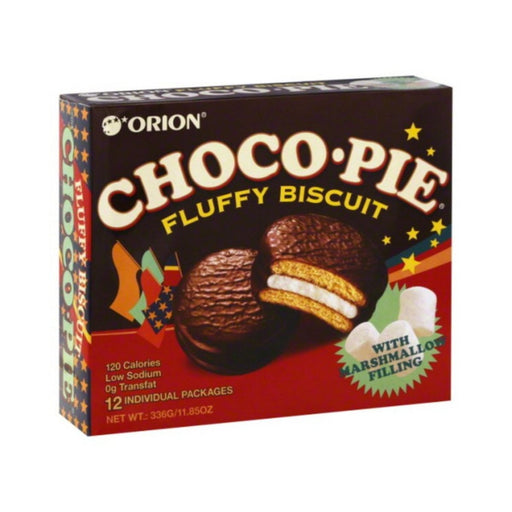 Orion CHOCO PIE with Marshmallow Filling 16.5oz 12ct - Best By