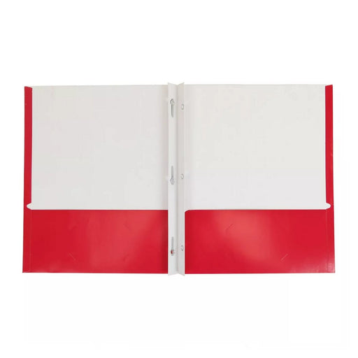Pallex 2 Pocket Paper Folder with Prongs Red - Best By
