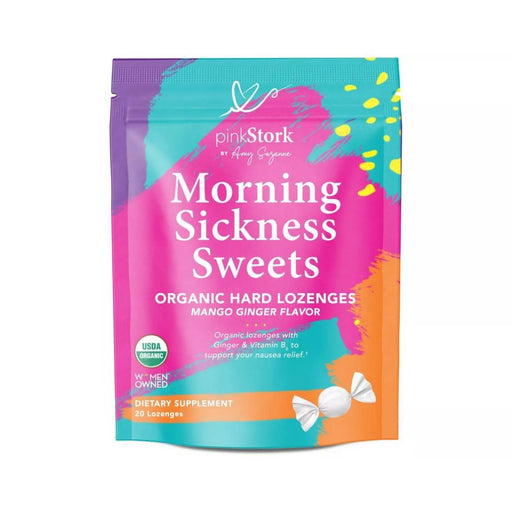 Pink Stork Mango Ginger Morning Sickness Hard Lozenges with Vitamin B6 20ct - Best By
