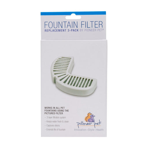 Pioneer Pet Replacement Filters for Ceramic & Stainless Steel Fountains 3pk - Best By