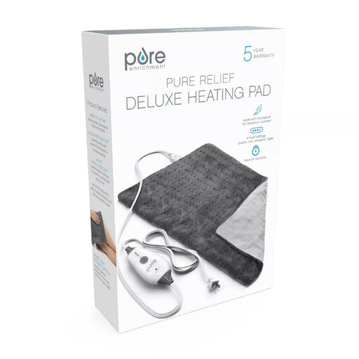 PureRelief Deluxe Gray Heating Pad - Best By