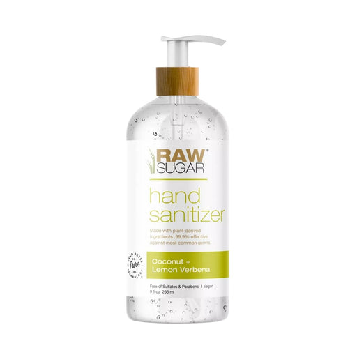 Raw Sugar Coconut and Lemon Verbena Hand Sanitizer 9 fl oz - Best By