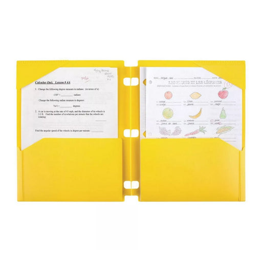 Snap-in Portfolio 2 Pocket Yellow - Best By