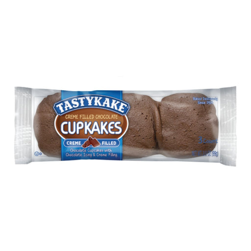 Tastykake Creme Filled Chocolate Cupcakes 3.25oz 6ct - Best By