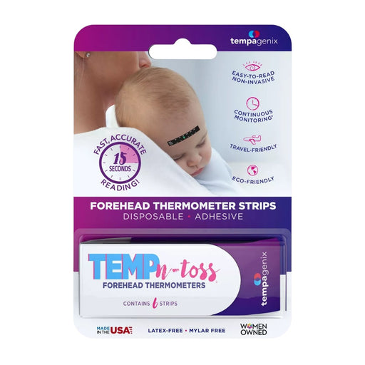 Tempagenix Temp-N-Toss Disposable Forehead Thermometer Strips 6ct - Best By
