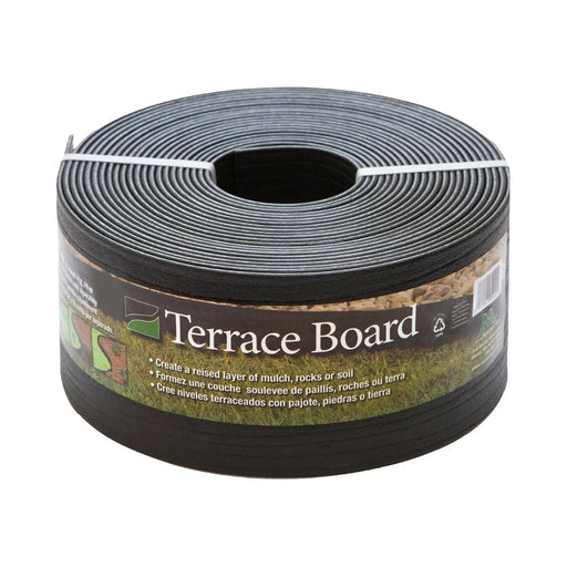 "Terrace Board 5"" x 40' Lawn & Garden Edging Black With 10 stakes - Best By"
