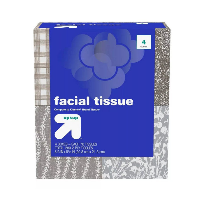 Up&Up Facial Tissues 144ct 4pk - Best By