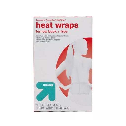 Up&Up Heat Wraps for Low Back & Hips 3ct - Best By