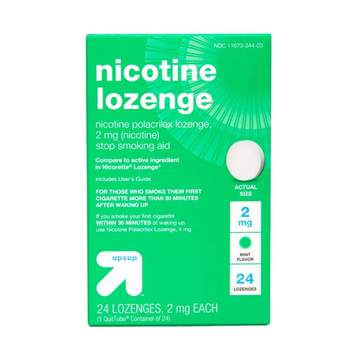 Up&Up Nicotine 2mg Lozenge Stop Smoking Aid Mint - Best By