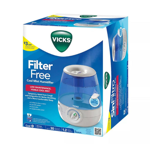 Vicks Filter Free Cool Mist Humidifier - Best By