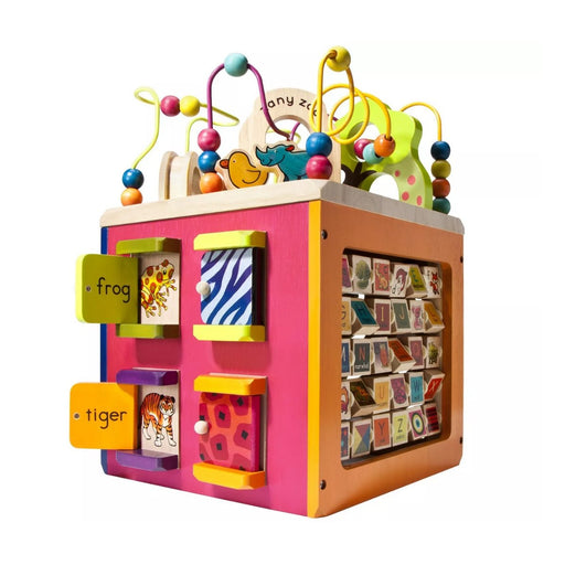 Zany Zoo B. toys Wooden Activity Cube - Best By