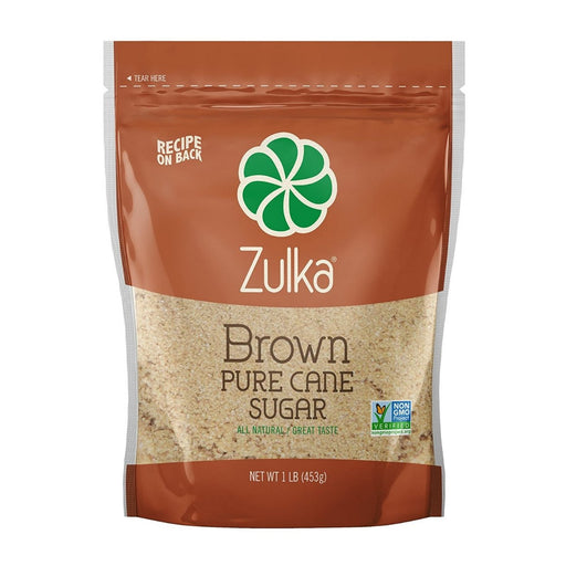 Zulka Cane Brown Sugar 1 lb - Best By