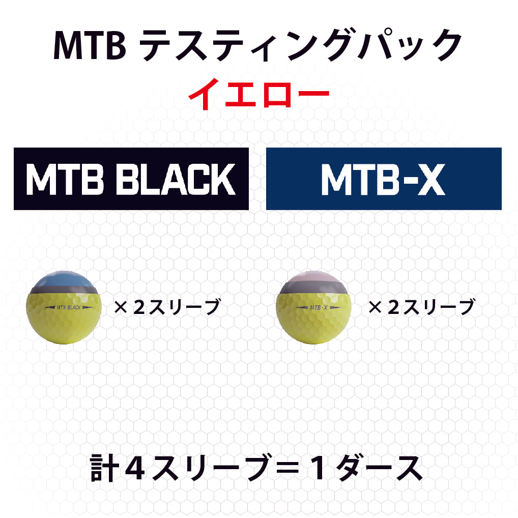 Snell Golf テスティングパック MTB BLACK&Xイエロー各2スリーブ(1箱12球入り)日本正規品