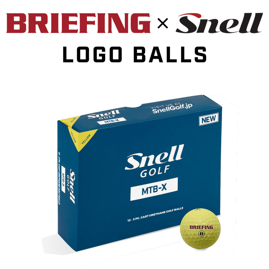 [BRIEFING x Snell] BRIEFINGロゴ入り・スネルゴルフ MTB-X イエロー(1箱12個入り) 日本正規品(日本語パッケージ)