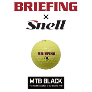 [BRIEFING x Snell] BRIEFINGロゴ入り・スネルゴルフ MTB BLACK イエロー(1箱12個入り) 日本正規品(日本語パッケージ)