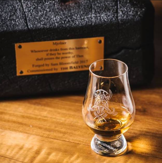 Etched Whisky Glass in Gift Box
