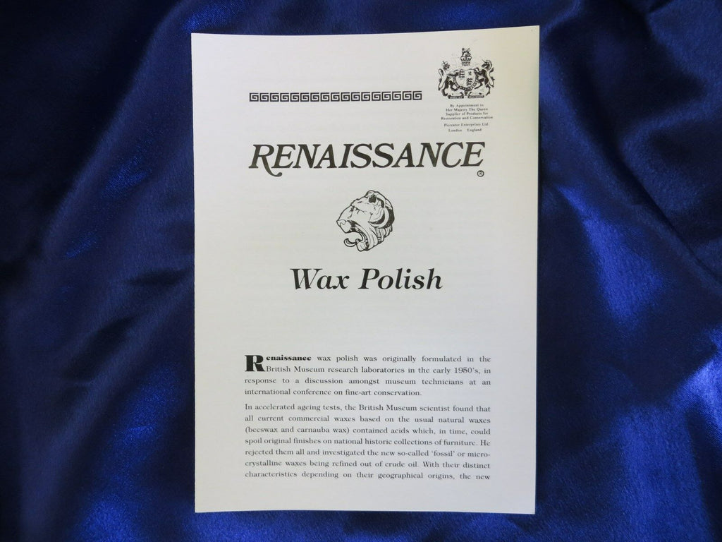 Renaissance Wax, 65ml Wax Polish Used By Restorers + Microfiber Cloth