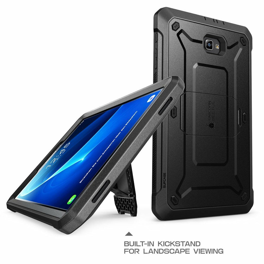 Galaxy Tab A 10.1 Case Full Body Cover with Screen Protector Black