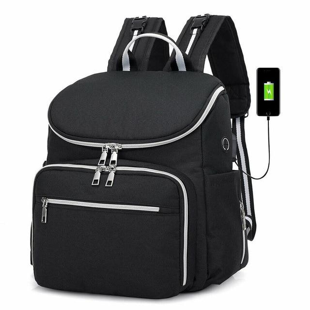 Stylish Large All in One Mommy Diaper Bag with Charging Station