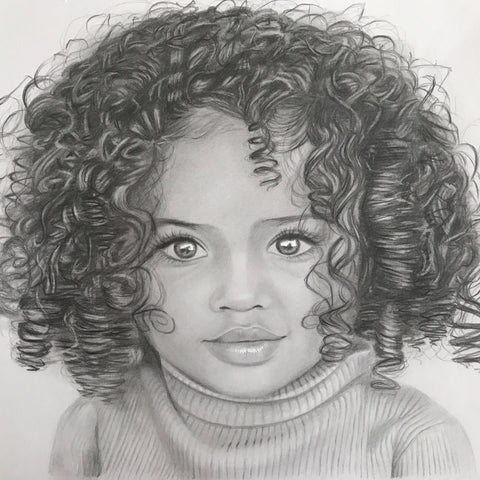 Child/Baby Portrait Drawings - Shayne Wise Portrait Artist #2