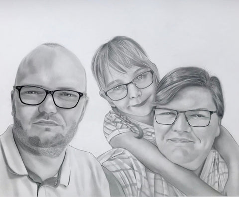 Family Portrait Drawing #4