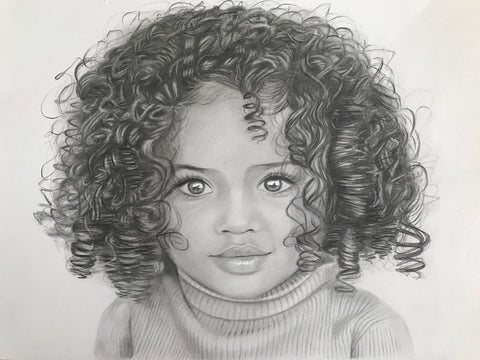 Child / Baby Portrait Drawing | Shayne Wise Art #1