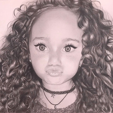 Child/Baby Portrait Drawings - Shayne Wise Portrait Artist #1