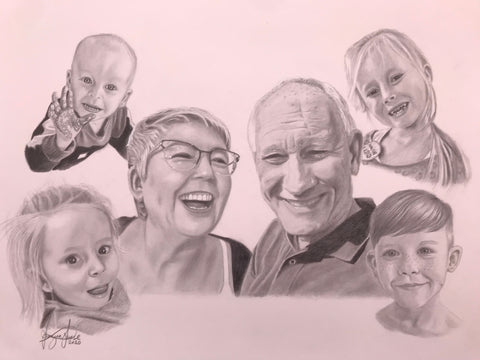 Family Portrait Drawing #6