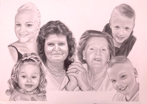Family Portrait Drawing #9