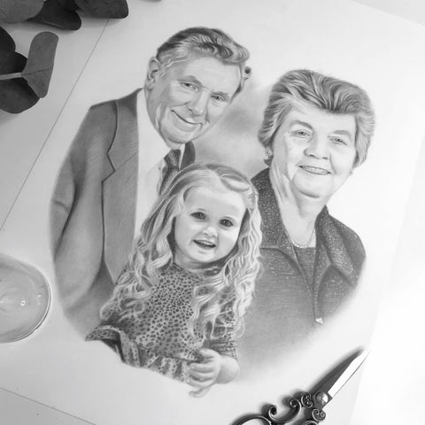 Family Portrait Drawing #7