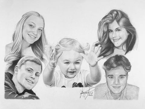 Family Portrait Drawing #1