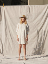 Load image into Gallery viewer, Nico Linen Shirt Dress Ecru