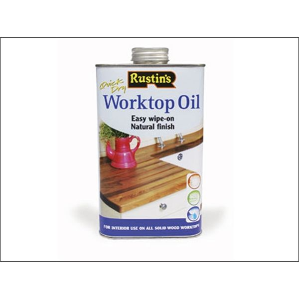 Rustins Worktop Oil 500ml / 1 Litre ALL SIZES STOCKED- Coverage 13 square metres