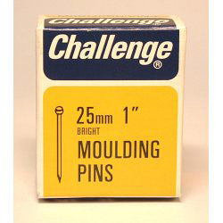 Challenge Moulding Pins (Veneer Pins) - Bright Steel (Box Pack) 25mm