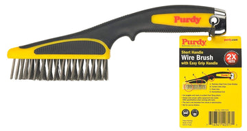 Purdy Short Handle Wire Brush - Easy Grip - 11 inch
