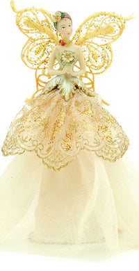 Fabric Angel Christmas Tree Topper - 23 cm - White, Pink, Lilac or Gold