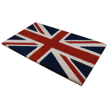 Union Jack Welcome Door Mat - Entrance Mat - Size 40 x 70cm