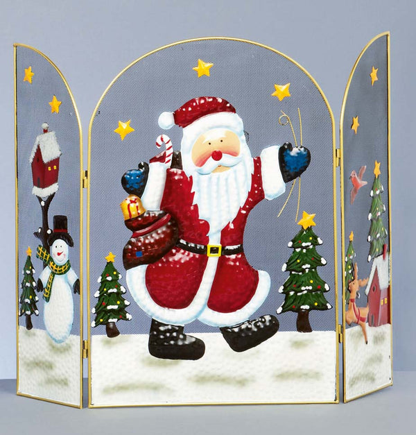 Santa Christmas Fireguard / Fire Screen - Size 63cm